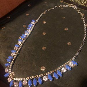 J.Crew Blue Stone Crystal Statement Necklace
